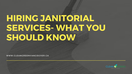 hiring janitorial services